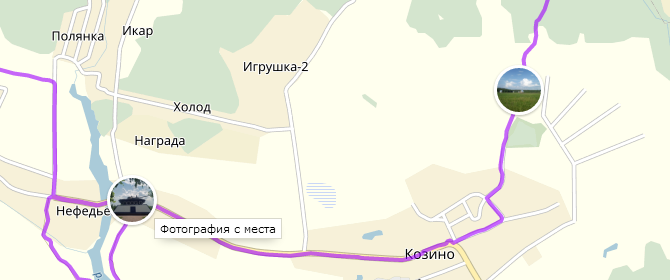 Фотография на карте